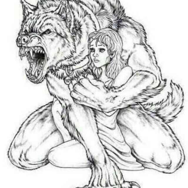 狼的简笔画 可爱